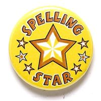 Spelling Star Button Badge</br>BA047